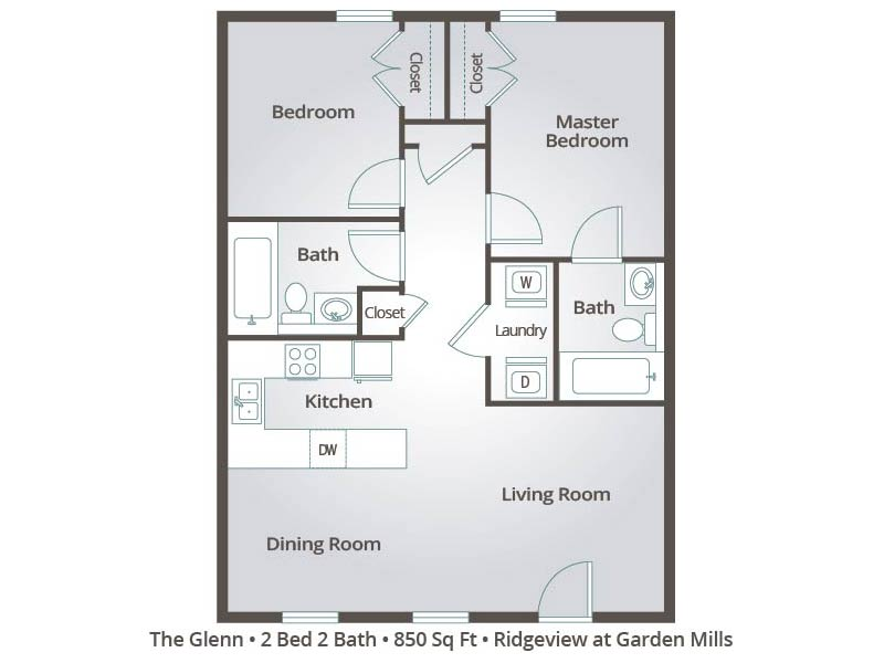 The Glenn - 2 Bedroom / 2 Bathroom Image