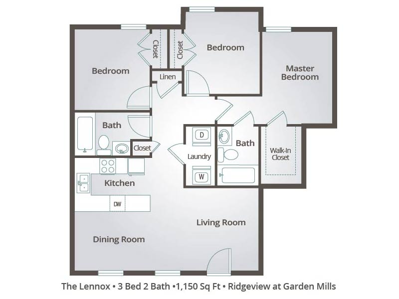 The Lennox - 3 Bedroom / 2 Bathroom Image