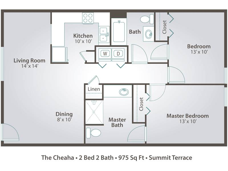 The Cheaha - 2 Bedroom / 2 Bathroom Image