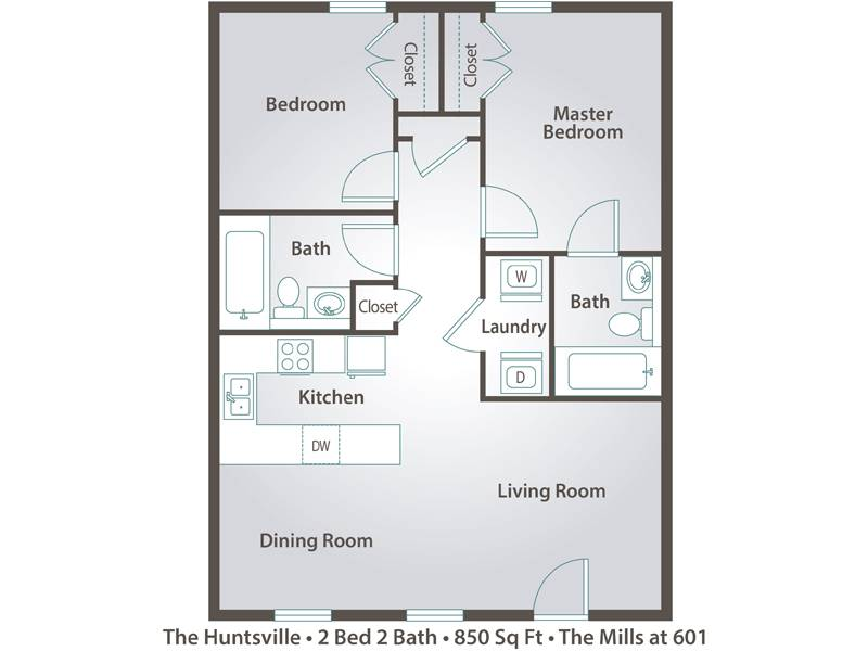 The Huntsville - 2 Bedroom / 2 Bathroom Image
