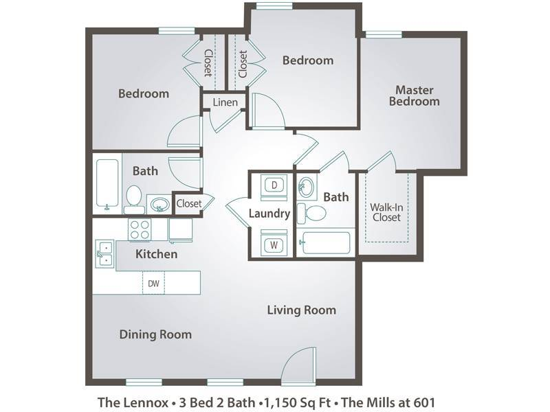 The Montgomery - 3 Bedroom / 2 Bathroom Image