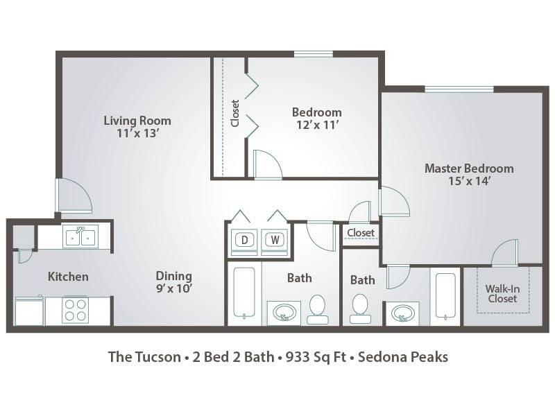 the tucson 2 bedroom 2 bathroom image