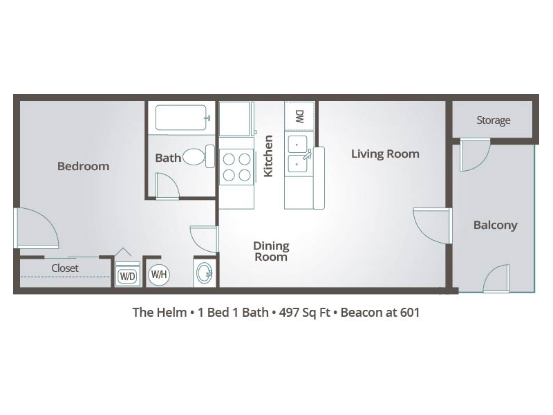 The Helm - 1 Bedroom / 1 Bathroom Image