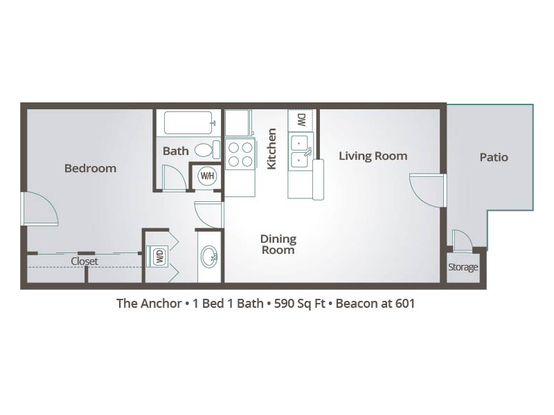 The Anchor - 1 Bedroom / 1 Bathroom Image