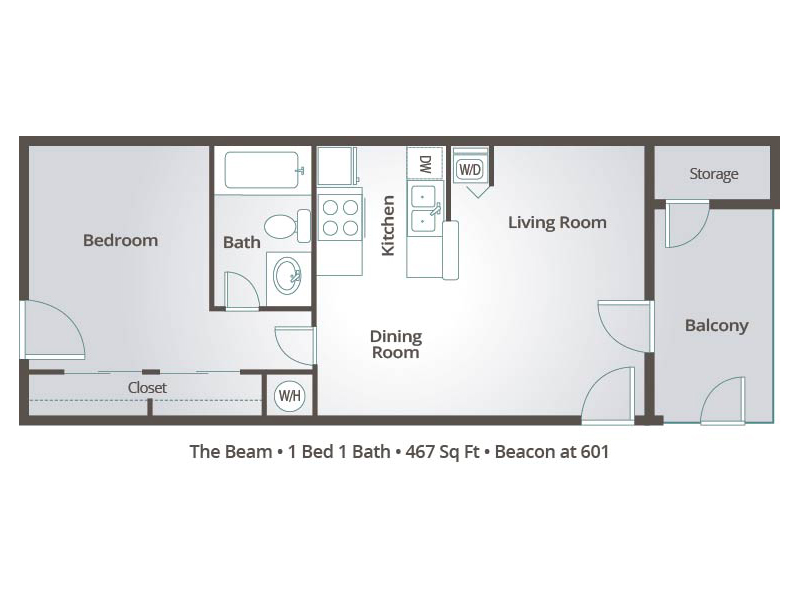 The Beam - 1 Bedroom / 1 Bathroom Image