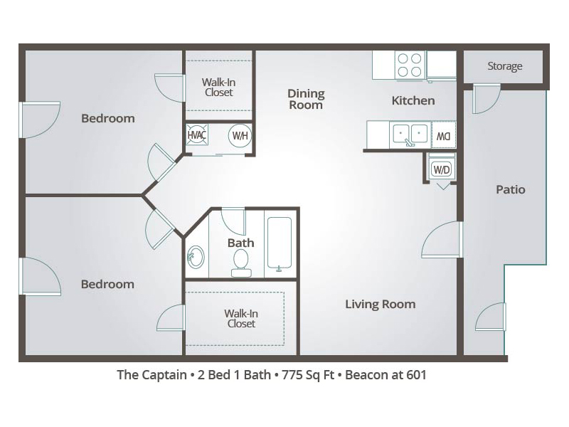 The Captain - 2 Bedroom / 1 Bathroom Image