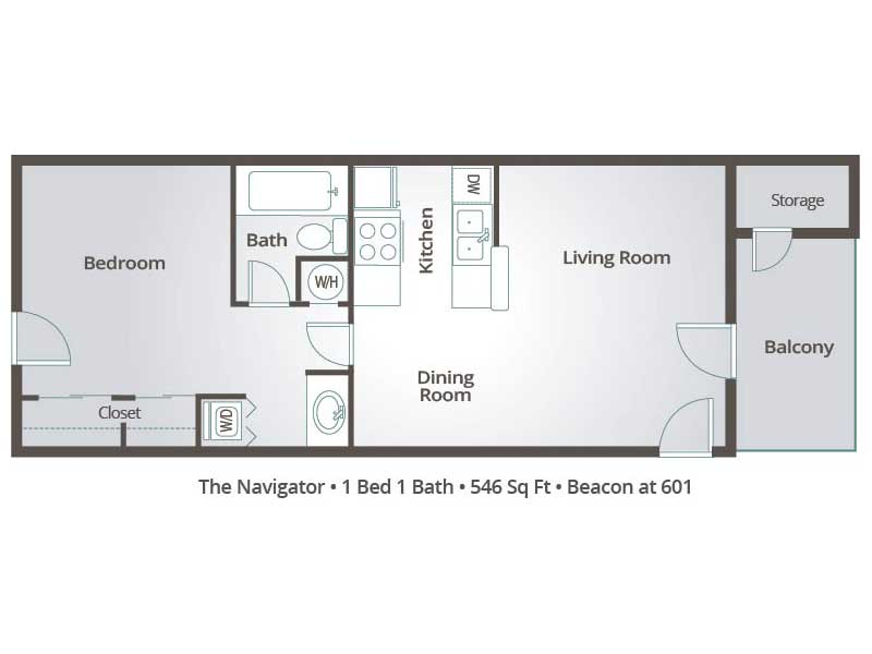 1 Bedroom Apartment Floor Plans & Pricing – Beacon at 601, Mesa AZ