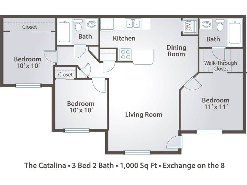 The Catalina - 3 Bedroom / 2 Bathroom Image