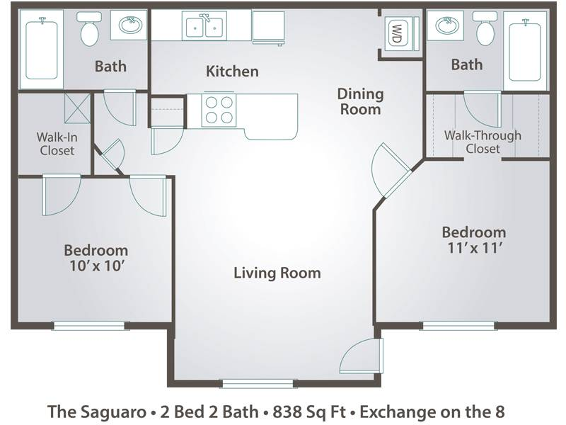 The Saguaro - 2 Bedroom / 2 Bathroom Image