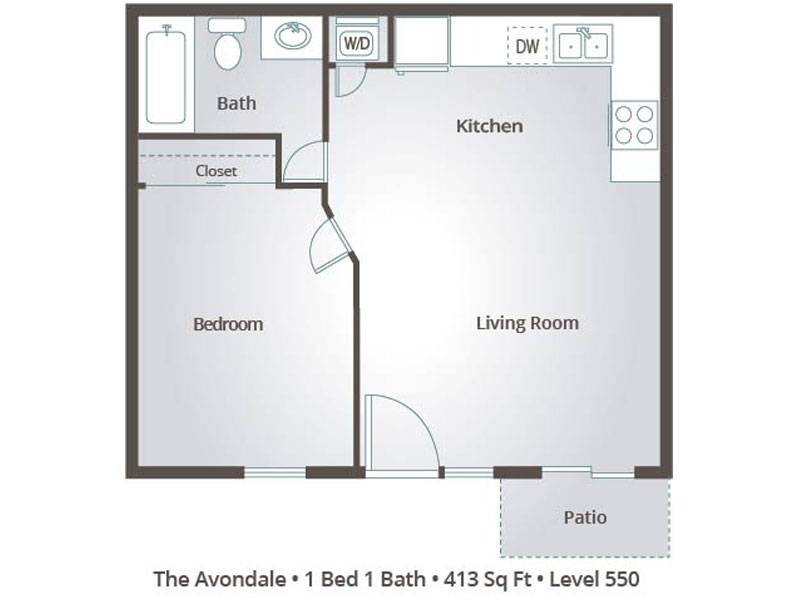 The Avondale - 1 Bedroom / 1 Bathroom Image