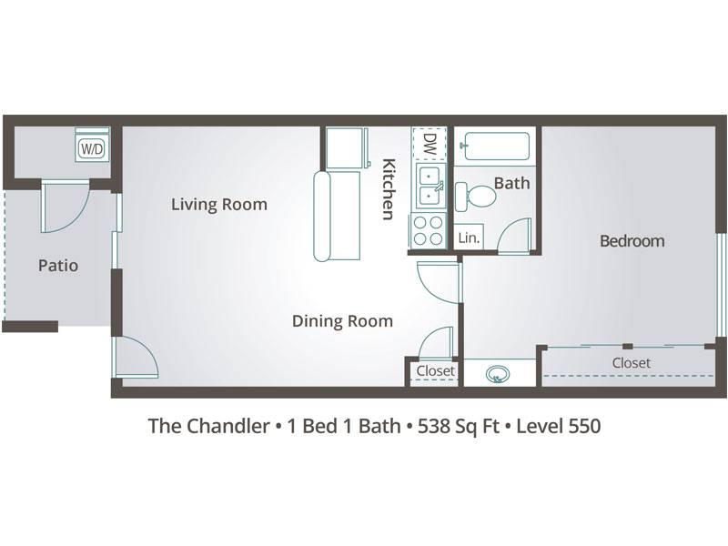 The Chandler - 1 Bedroom / 1 Bathroom Image