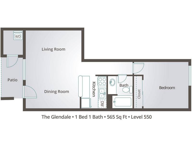 The Glendale - 1 Bedroom / 1 Bathroom Image