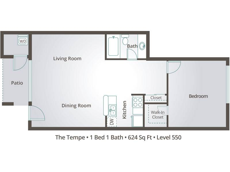 The Tempe - 1 Bedroom / 1 Bathroom Image