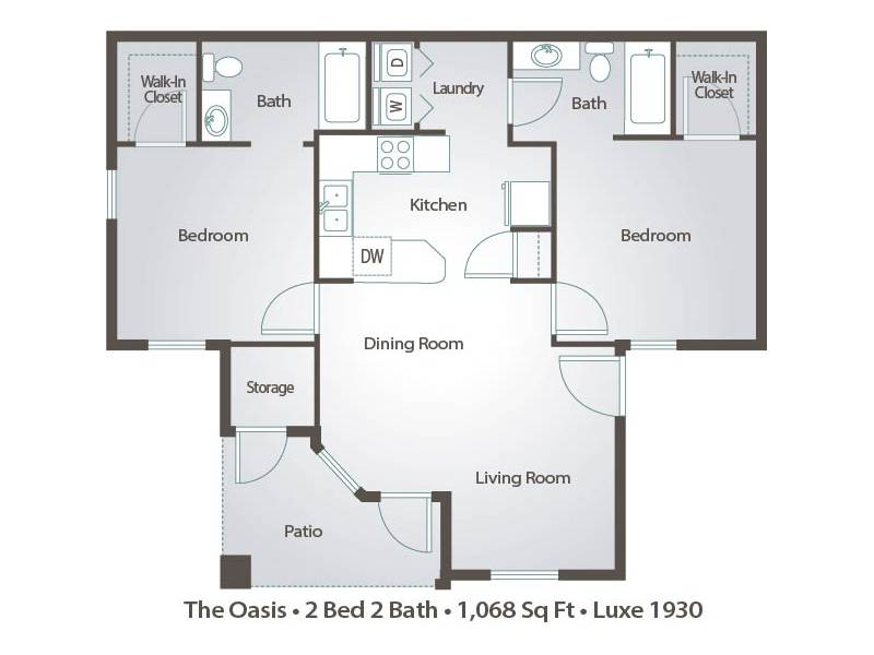 The Oasis - 2 Bedroom / 2 Bathroom Image
