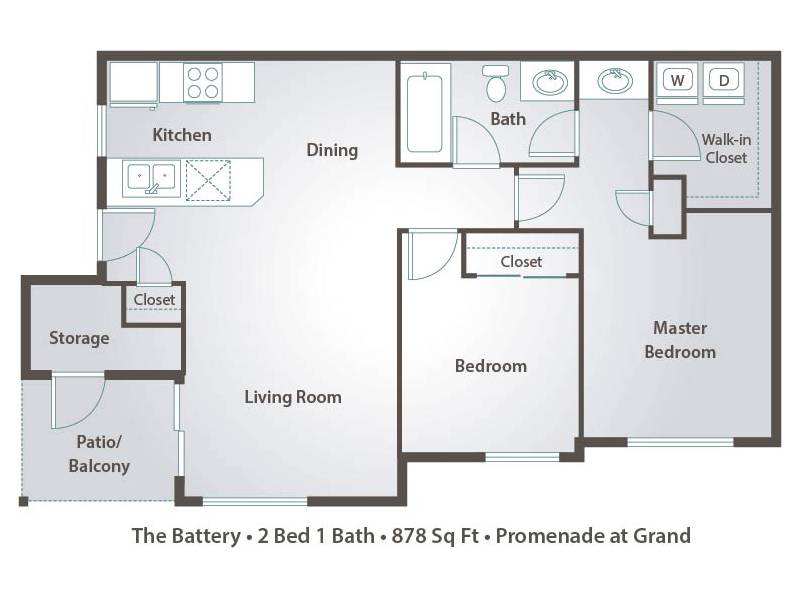The Battery - 2 Bedroom / 1 Bathroom Image