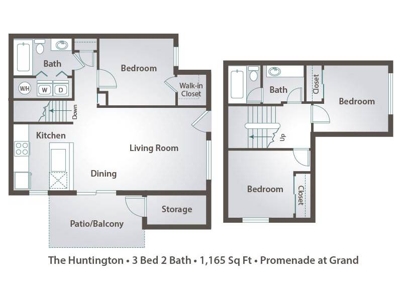 The Huntington - 3 Bedroom / 2 Bathroom Image