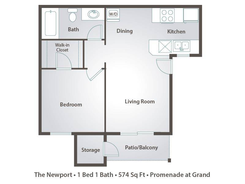 The Newport - 1 Bedroom / 1 Bathroom Image