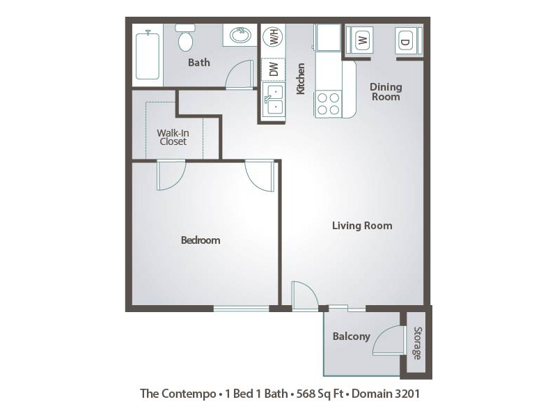2 Bedroom Apartment Floor Plans & Pricing – Domain 3201, Tucson AZ
