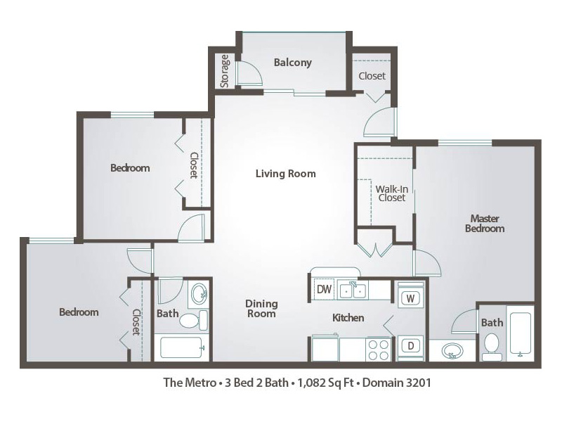 Bedroom Apartment Floor Plans Pricing Domain Tucson Az