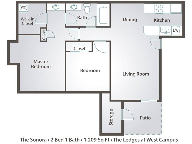 The Sonora - 2 Bedroom / 1 Bathroom Image