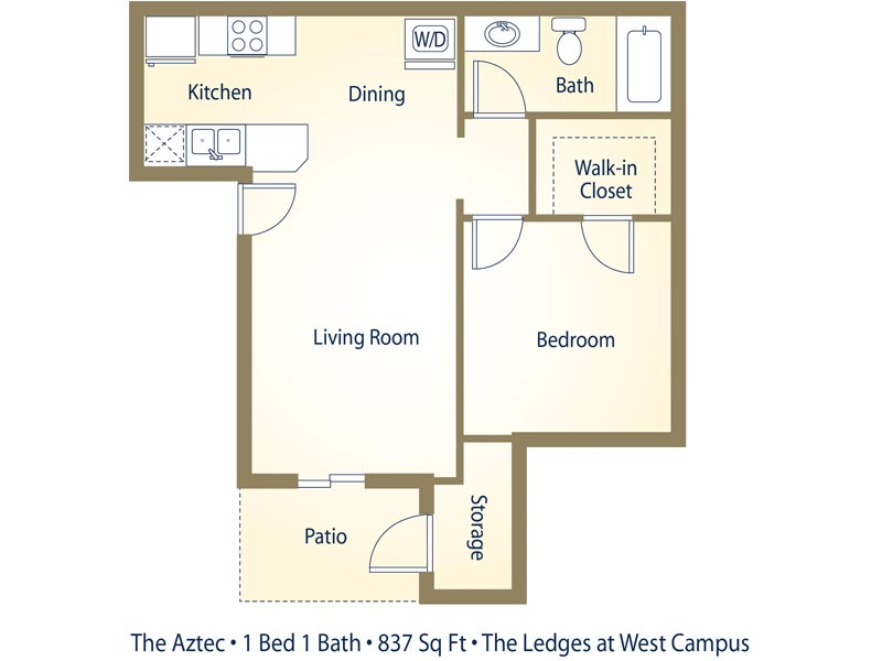The Aztec - 1 Bedroom / 1 Bathroom Image