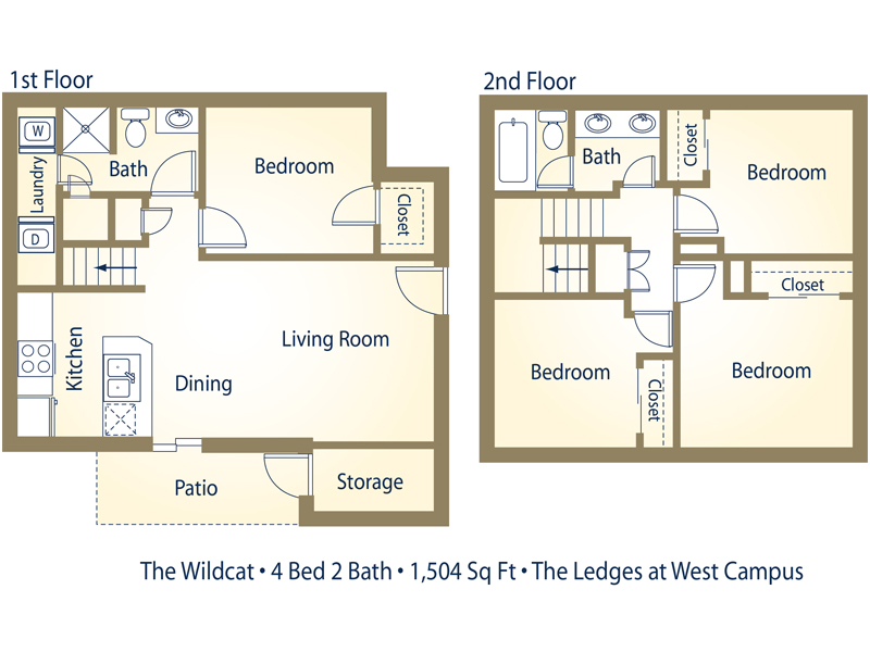 The Wildcat Furnished (BTB) - 4 Bedroom / 2 Bathroom Image