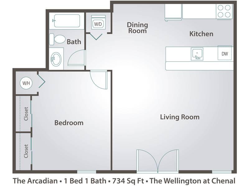 The Arcadian - 1 Bedroom / 1 Bathroom Image