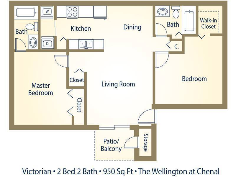 Apartment floor plans pricing wellington at chenal for 2 bedroom 2 bath apartment floor plans