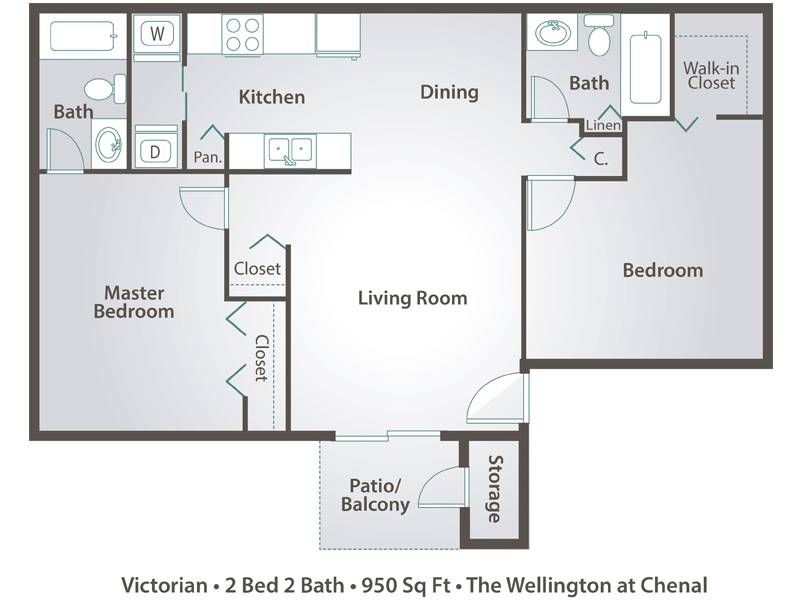 The Victorian - 2 Bedroom / 2 Bathroom Image