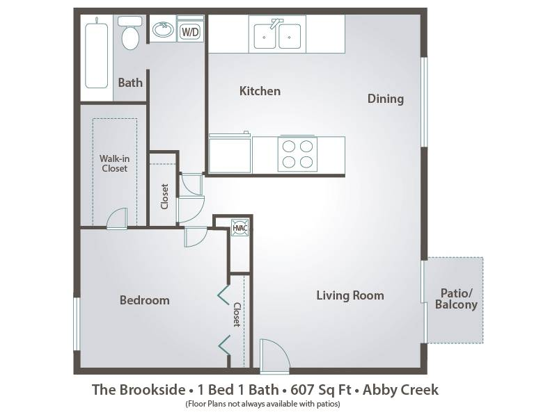 The Brookside - 1 Bedroom / 1 Bathroom Image
