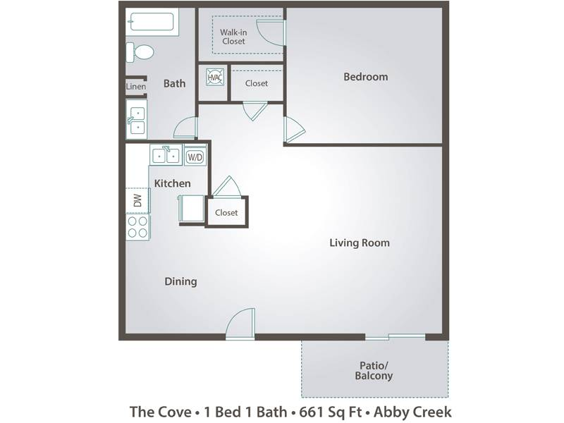 The Cove - 1 Bedroom / 1 Bathroom Image