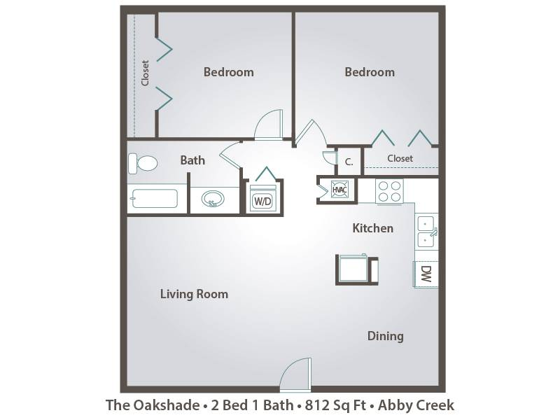 The Oakshade - 2 Bedroom / 1 Bathroom Image