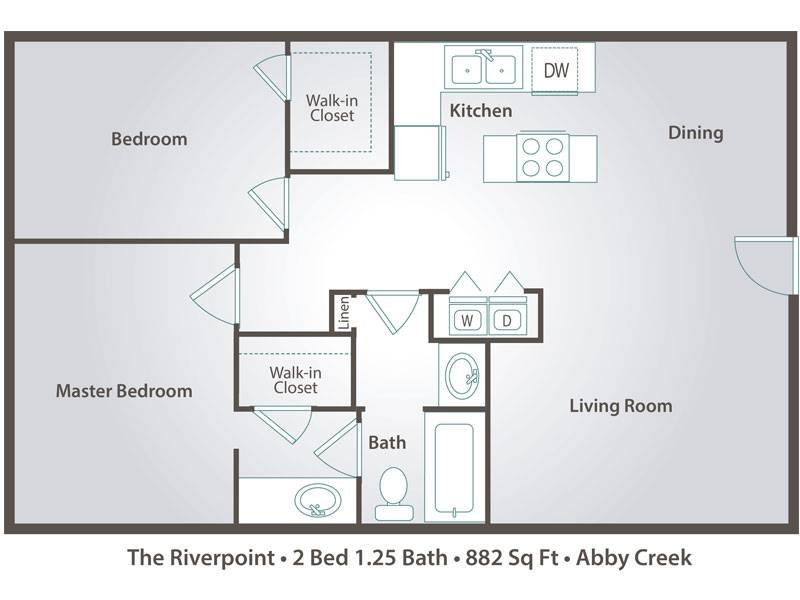 The Riverpoint - 2 Bedroom / 1.25 Bathroom Image