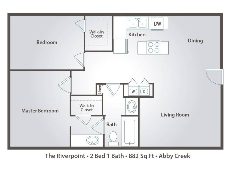The Riverpoint - 2 Bedroom / 1 Bathroom Image