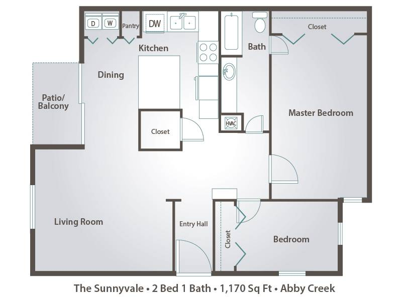 The Sunnyvale - 2 Bedroom / 1 Bathroom Image