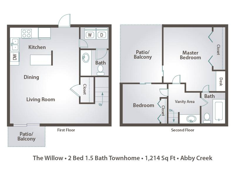 The Willow - 2 Bedroom / 1.5 Bathroom Image