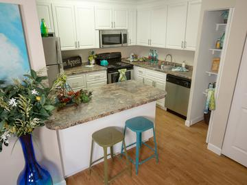 Kitchen & Dining Area - Abby Creek Apartment Homes - Carmichael, CA