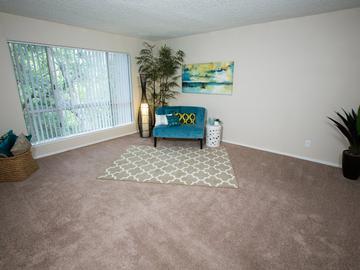 Living Room - Abby Creek Apartment Homes - Carmichael, CA