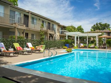 Poolside Loungers - Abby Creek Apartment Homes - Carmichael, CA