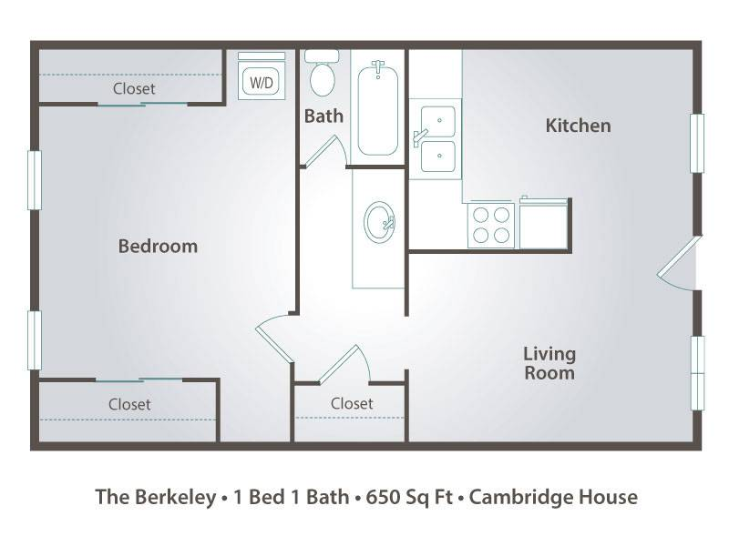 The Berkeley - 1 Bedroom / 1 Bathroom Image