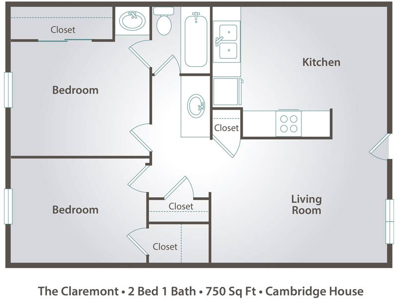 650 Square Feet Floor Plan 2 Bedroom