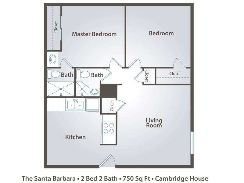 Apartment floor plans pricing cambridge house in davis ca for 2 bedroom 2 bath apartment floor plans