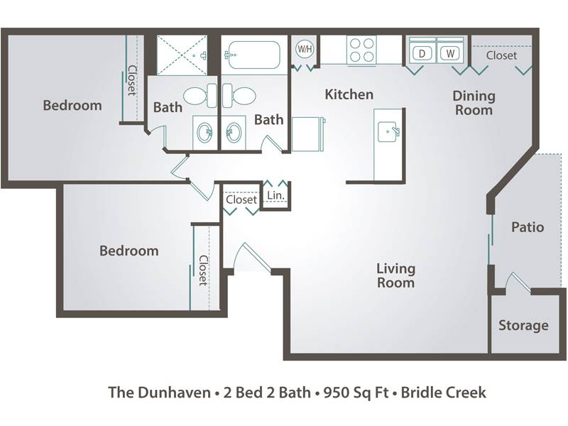 The Dunhaven - 2 Bedroom / 2 Bathroom Image
