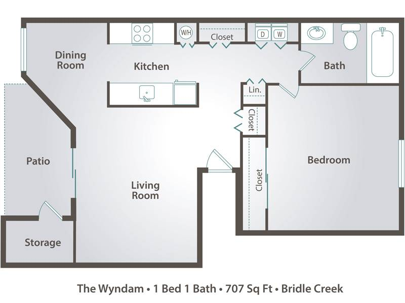 The Wyndam - 1 Bedroom / 1 Bathroom Image