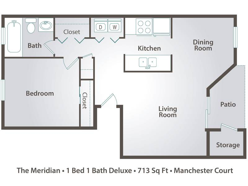 The Meridian - 1 Bedroom / 1 Bathroom Image