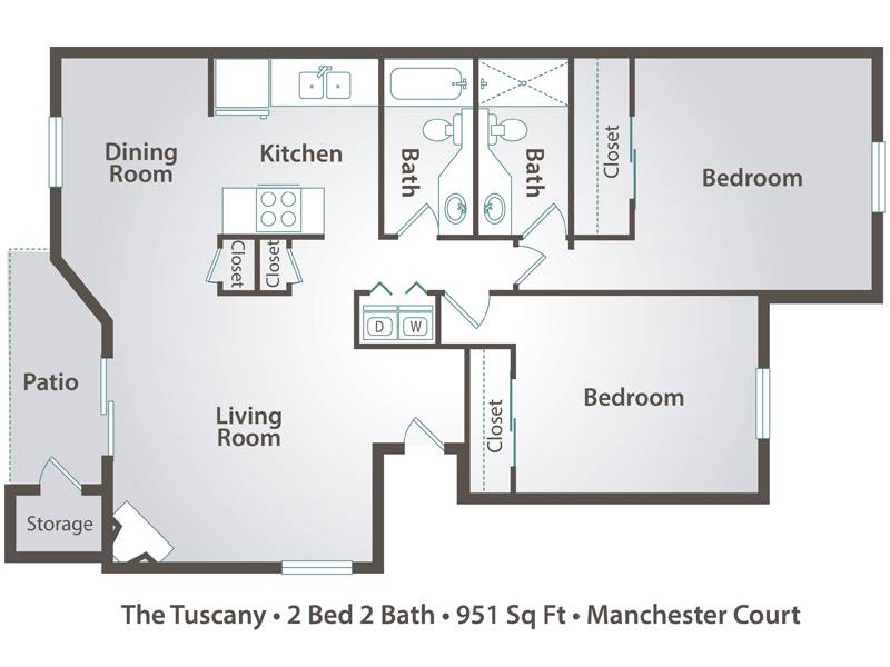 The Tuscany - 2 Bedroom / 2 Bathroom Image