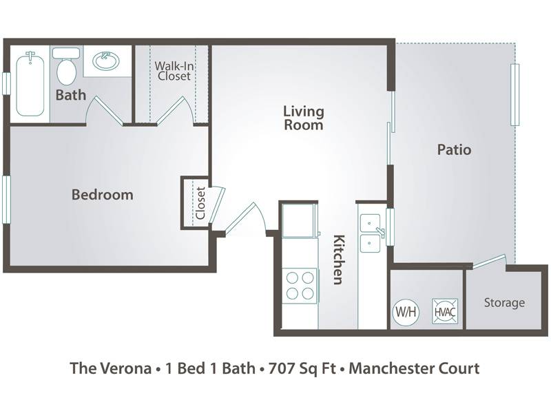 The Verona - 1 Bedroom / 1 Bathroom Image