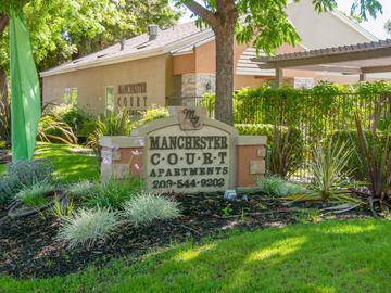 Front Entrance Sign - Manchester Court - Modesto, CA