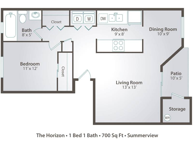 The Horizon - 1 Bedroom / 1 Bathroom Image