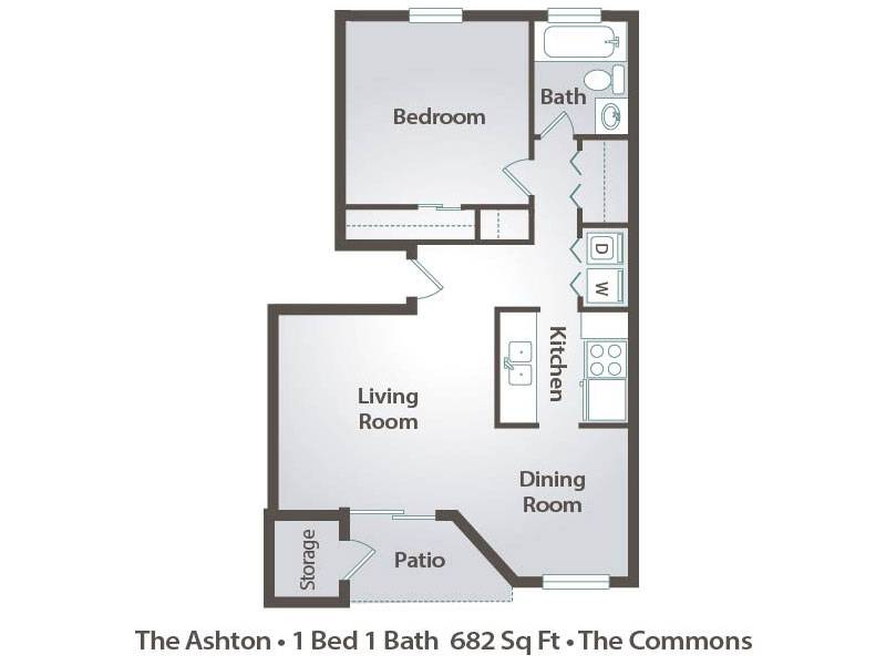 The Ashton - 1 Bedroom / 1 Bathroom Image